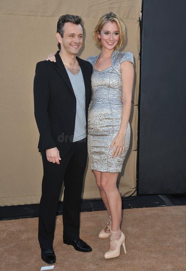 Michael Sheen & Caitlin FitzGerald stock photos