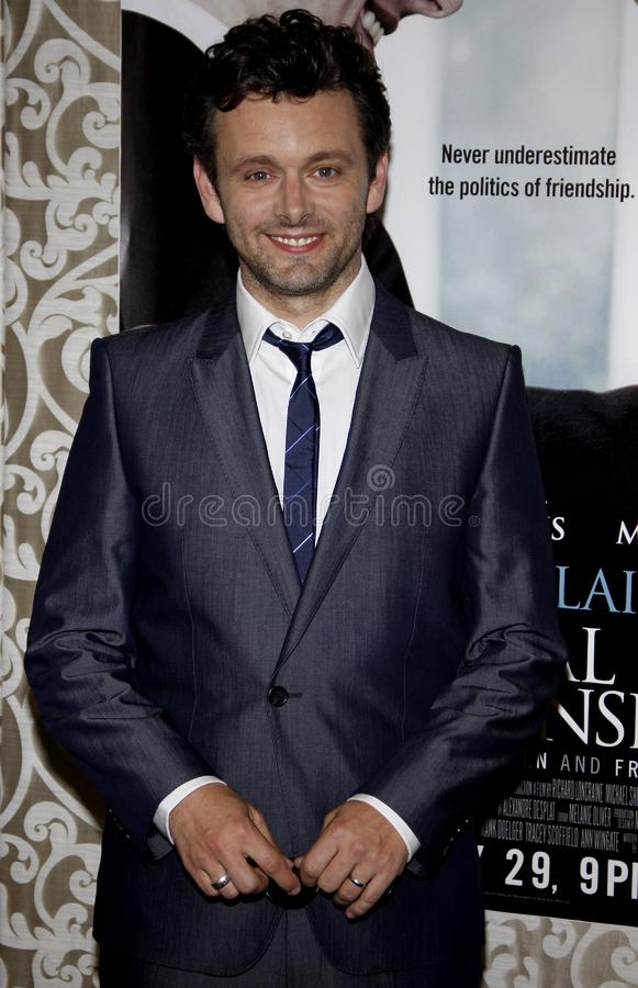Michael Sheen. HOLLYWOOD, CALIFORNIA - Wednesday May 18, 2010. Michael Sheen at the Los Angeles premiere of `The Special Relationship` held at the Director`s stock image