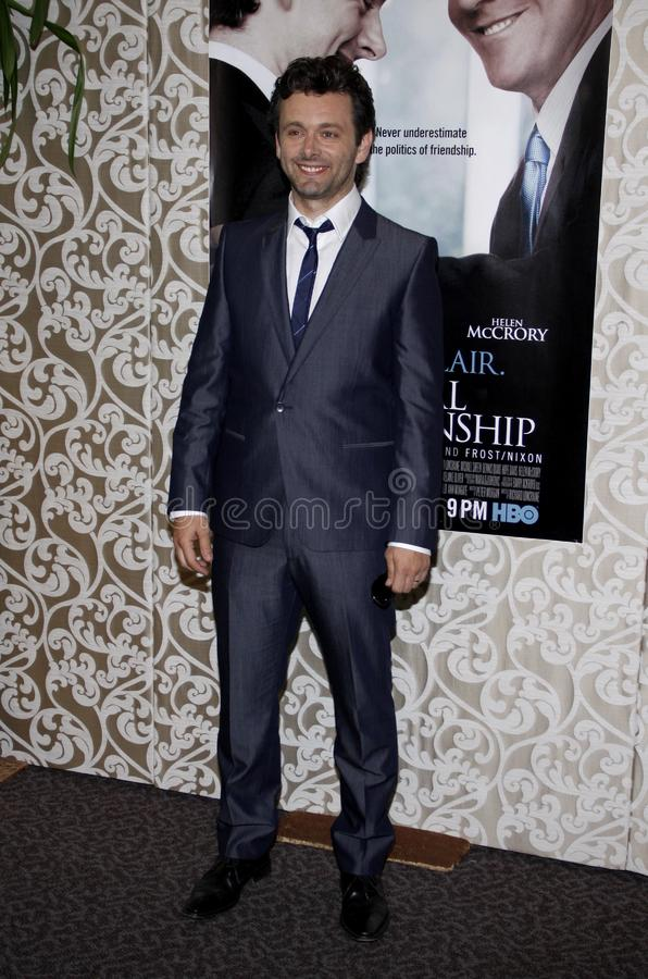 Michael Sheen. At the Los Angeles Premiere of `The Special Relationship` held at the Director`s Guild of America in Hollywood, California, United States on May royalty free stock photo
