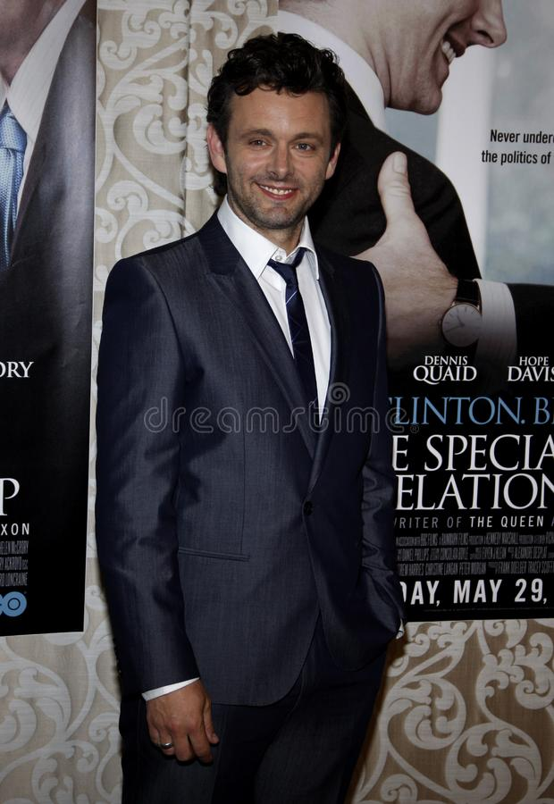 Michael Sheen. At the Los Angeles Premiere of `The Special Relationship` held at the Director`s Guild of America in Hollywood, California, United States on May royalty free stock photography