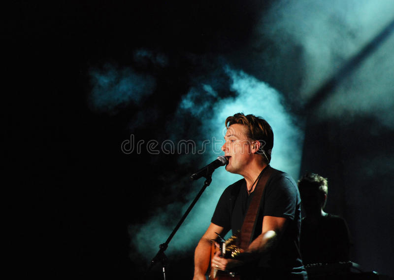 Michael W. Smith de concert photos stock