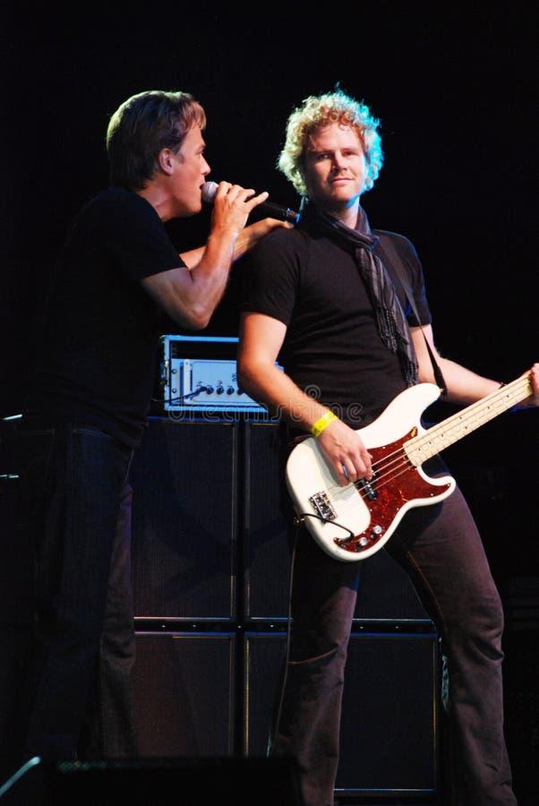 Michael W. Smith no concerto fotografia de stock