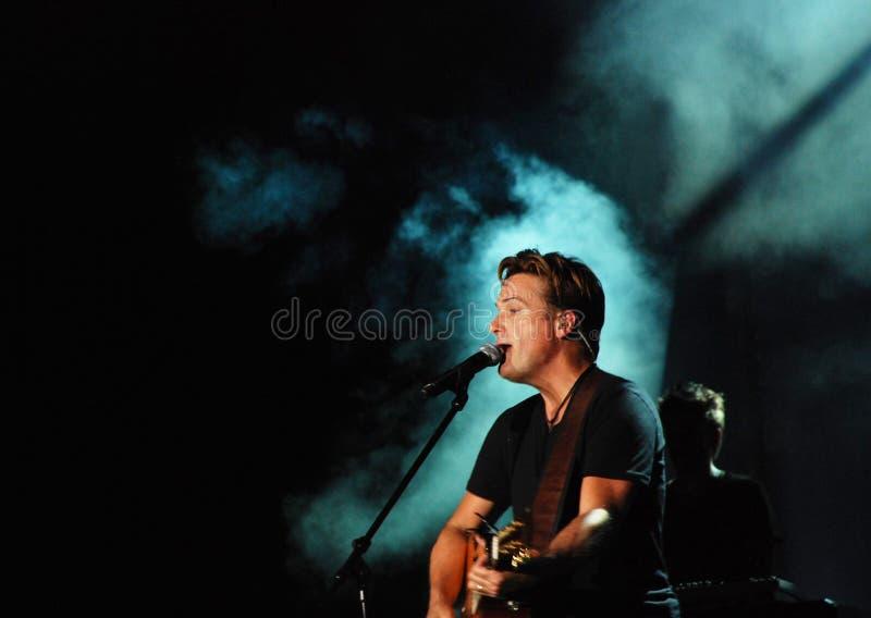 Michael W. Smith no concerto fotos de stock