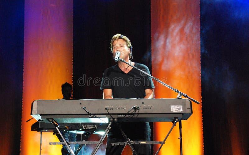 Michael W. Smith no concerto imagens de stock royalty free