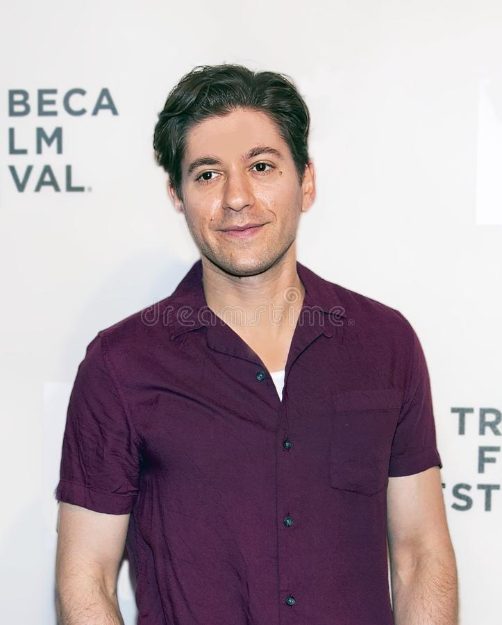 Michael Zegan at the World Premiere of `Yesterday` at 2019 Tribeca Film Festival Closing Night Gala. Actor Michael Zegan arrives at the World Premiere of ` royalty free stock photo