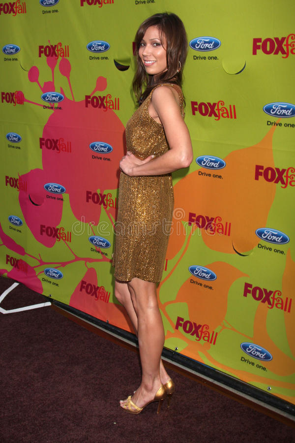 Michaela Conlin. Arriving at the FOX-Fall Eco-Casino Party at BOA Steakhouse in West Los Angeles, CA on September 14, 2009 royalty free stock photography