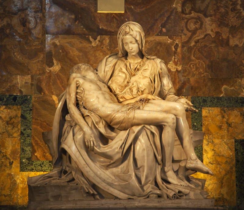 Michaelangelo Pieta Sculpture Vatican Rome Italy stock photo