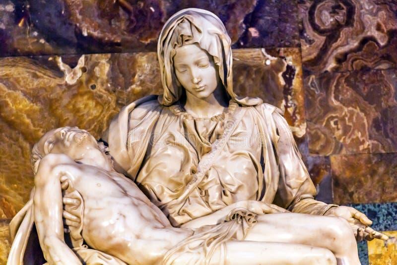 Michaelangelo Pieta-Skulptur Vatican Rom Italien stockfotografie