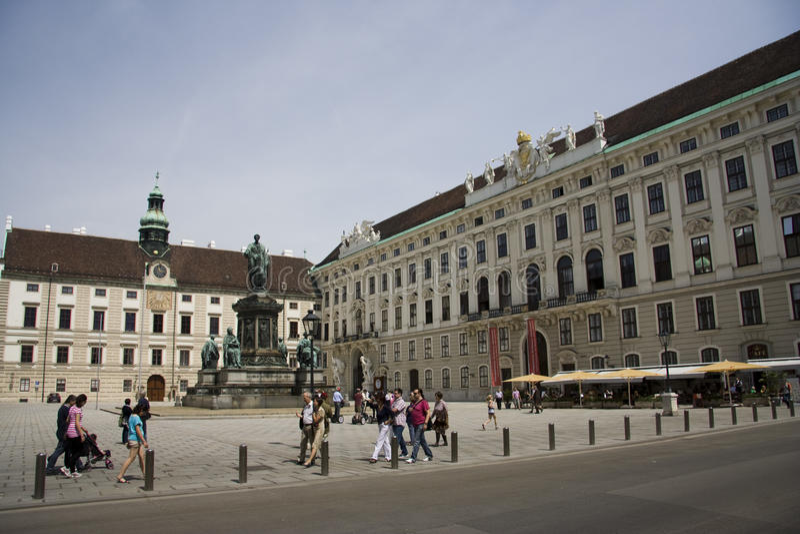 Michaelerplatz_Vienna fotografie stock