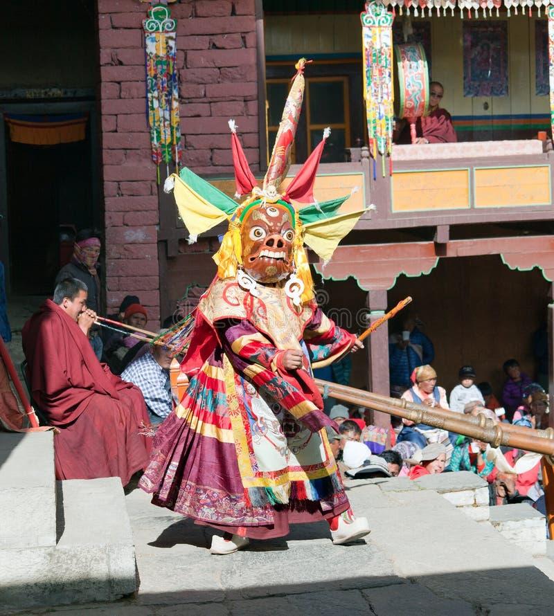 Michaelita świętuje podczas festiwalu Tengboche zdjęcia royalty free