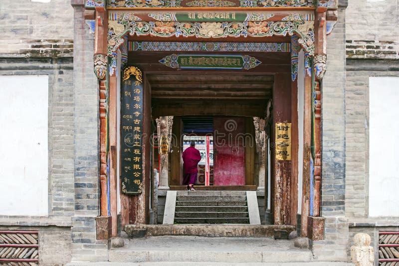 Michaelita Chodzi W Tybetańską świątynię obrazy stock