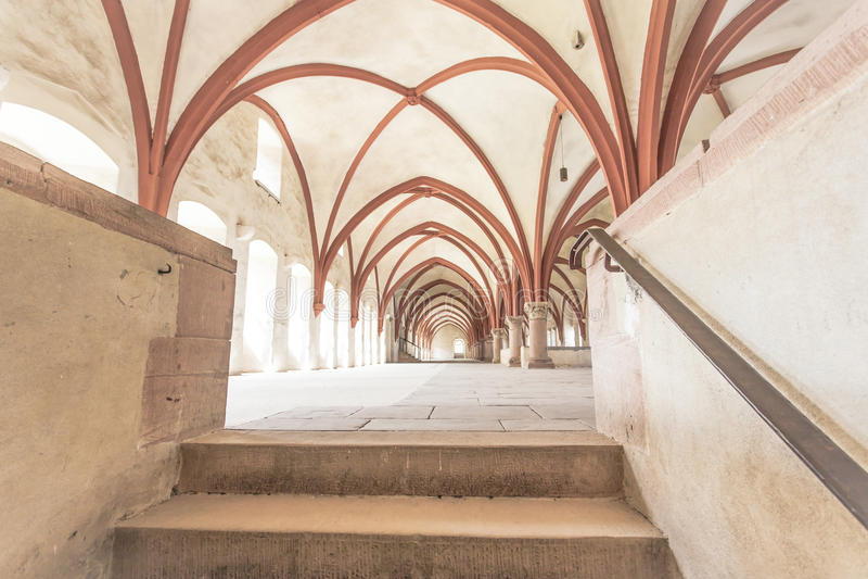 Michaelita dormitorium monaster Eberbach Niemcy obrazy stock