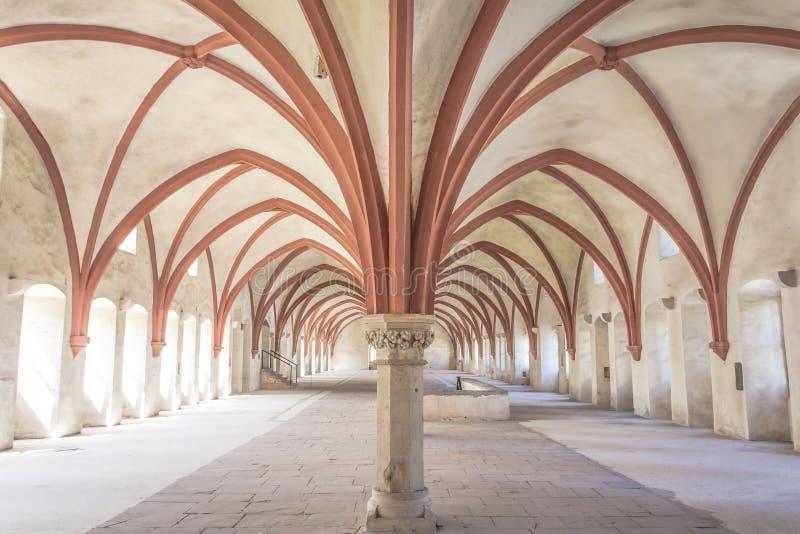 Michaelita dormitorium monaster Eberbach Niemcy obrazy royalty free