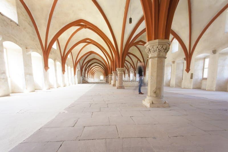 Michaelita dormitorium monaster Eberbach Niemcy zdjęcia stock