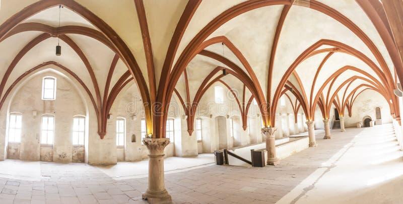 Michaelita dormitorium monaster Eberbach Niemcy zdjęcie royalty free