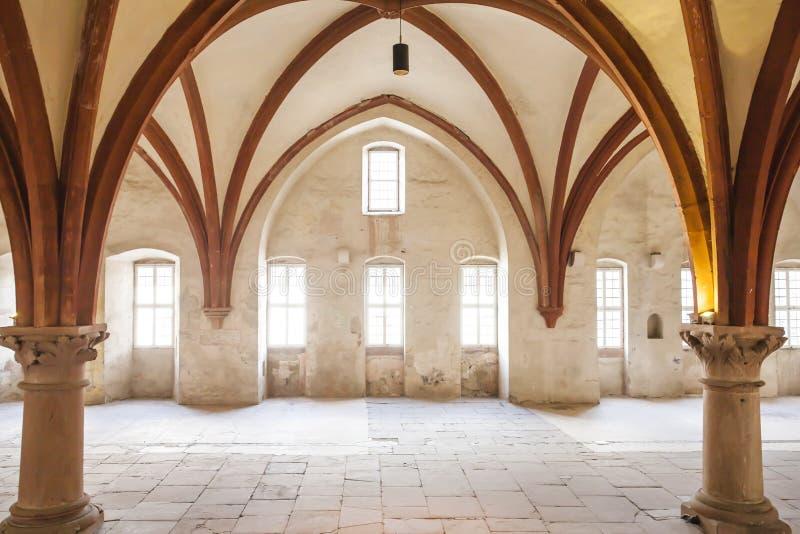 Michaelita dormitorium monaster Eberbach Niemcy fotografia royalty free