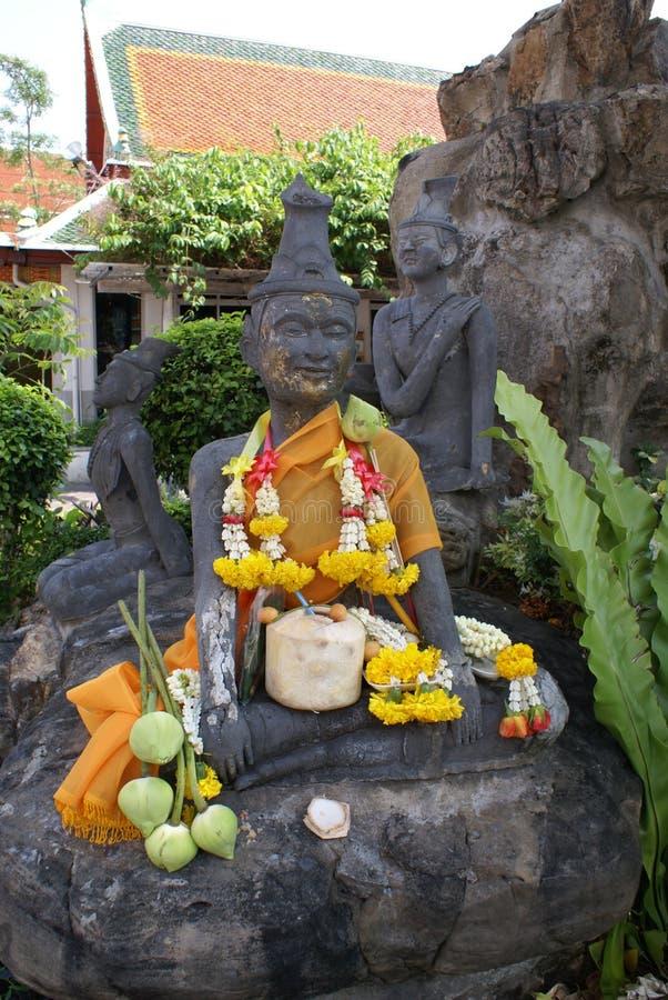 Michaelita Medytuje statuę, Wat Pho, Bangkok, Tajlandia, Azja obraz stock