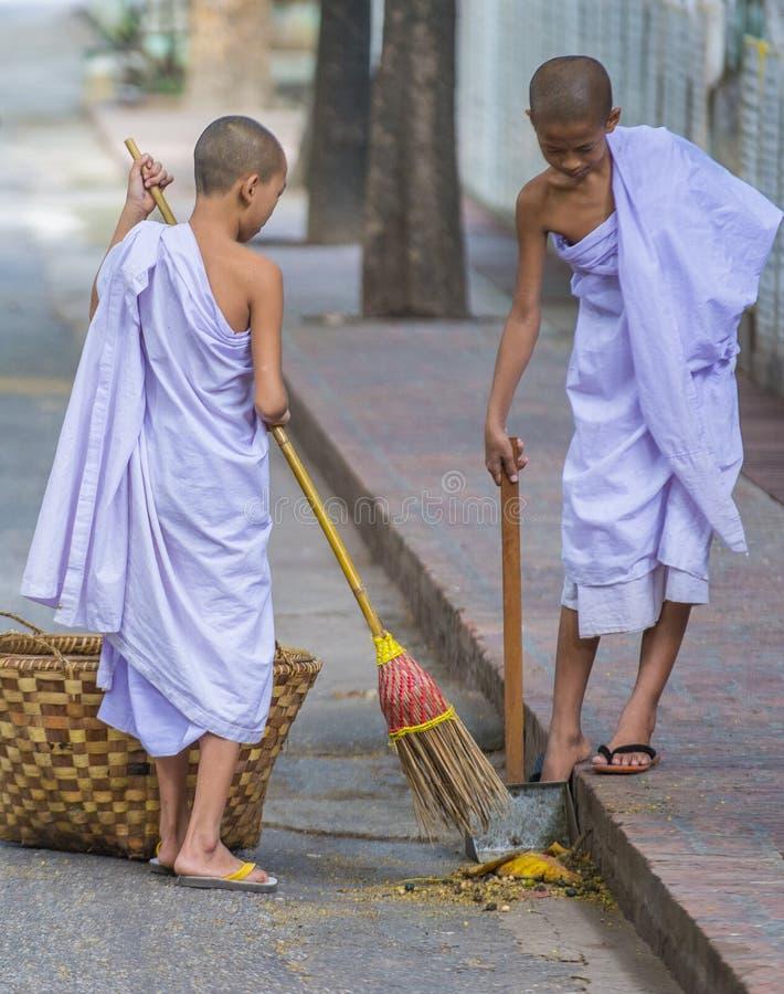 Michaelita przy Mahagandayon monasterem Myanmar fotografia royalty free