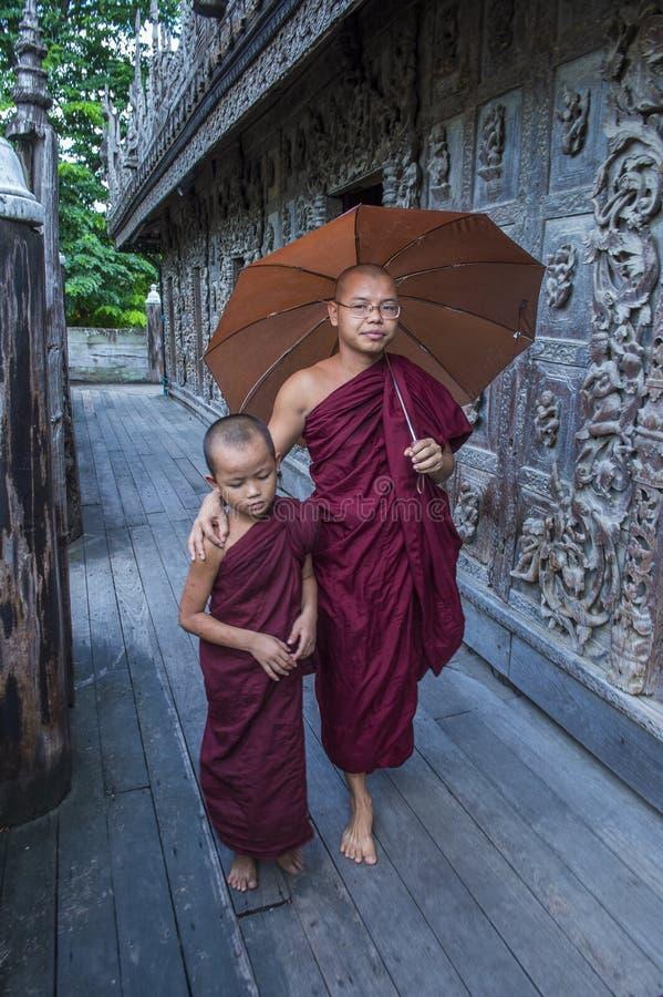 Michaelita przy Shwenandaw monasterem w Mandalay, Myanmar obraz royalty free