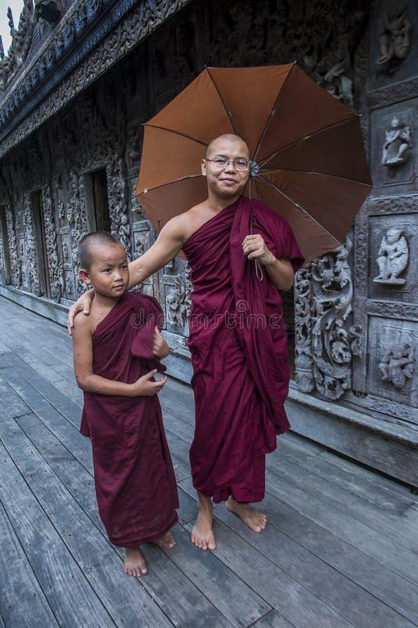 Michaelita przy Shwenandaw monasterem w Mandalay, Myanmar obrazy stock