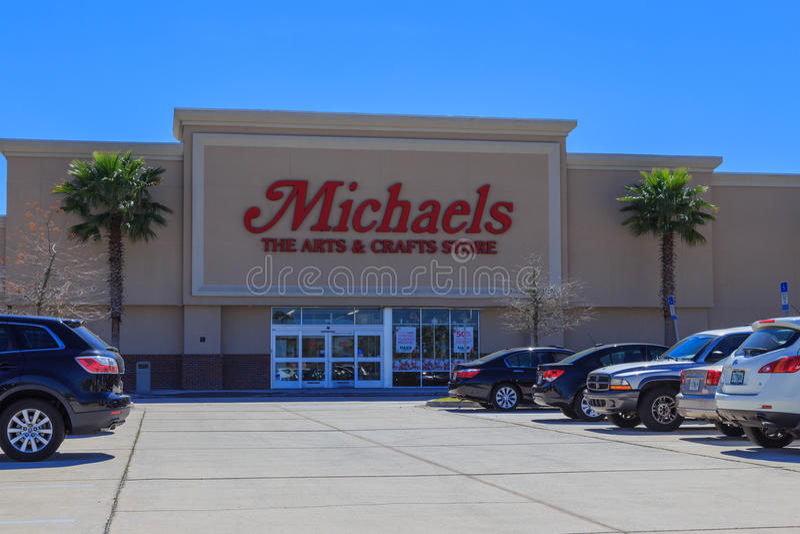 Michaels艺术和工艺店面 图库摄影