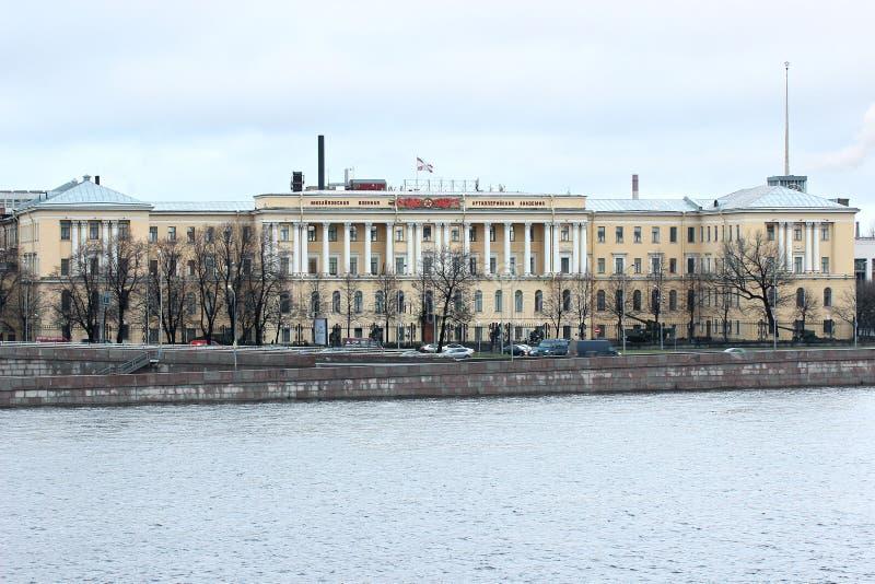 Michaels militär artilleriakademi i St Petersburg arkivbilder