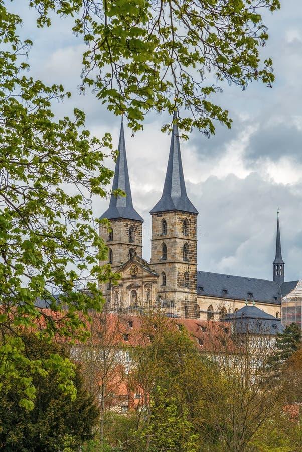Michaelsberg Abbey, Bamberg, Germany stock images