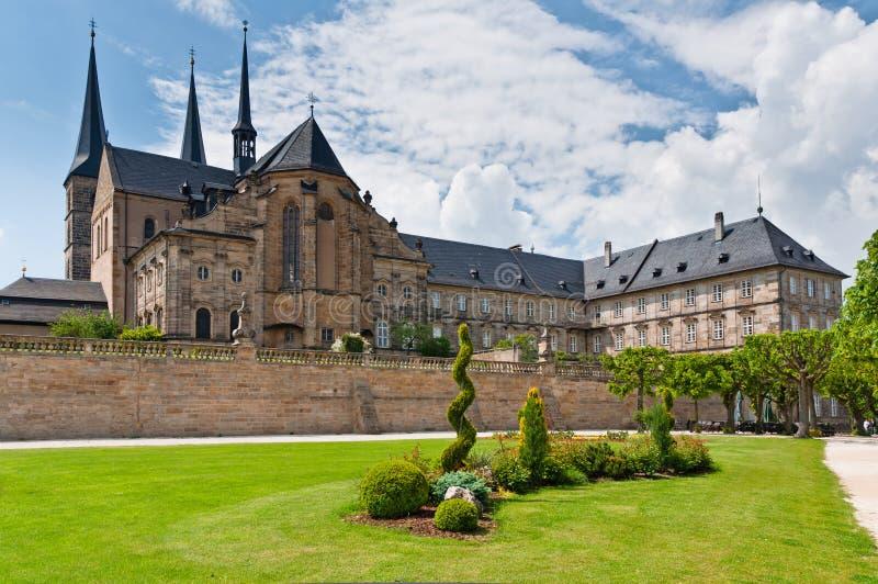 Michaelsberg Abbey yard, Bamberg stock images