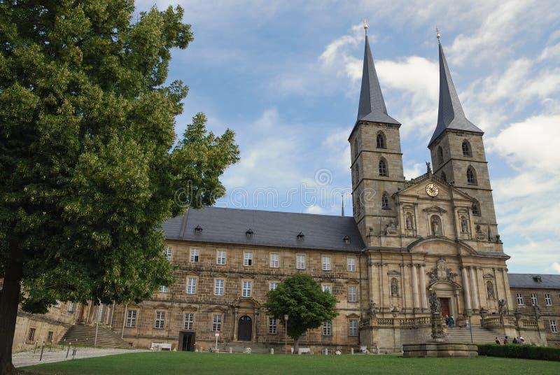 Michaelsberg Monastery in Bamberg stock images