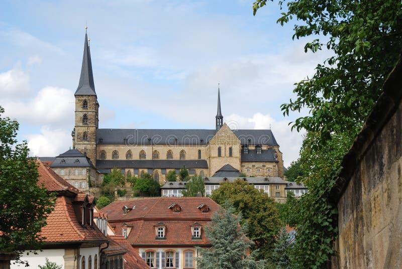 Michaelsberg Monastery in Bamberg royalty free stock images