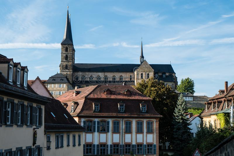 Michaelsberg monastery in Bamberg Bavaria Germany stock photos