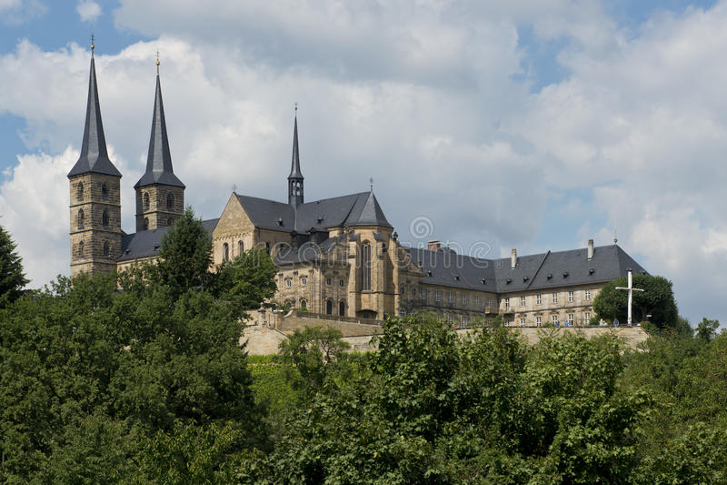 Michaelsberg opactwo w Bamberg obrazy stock