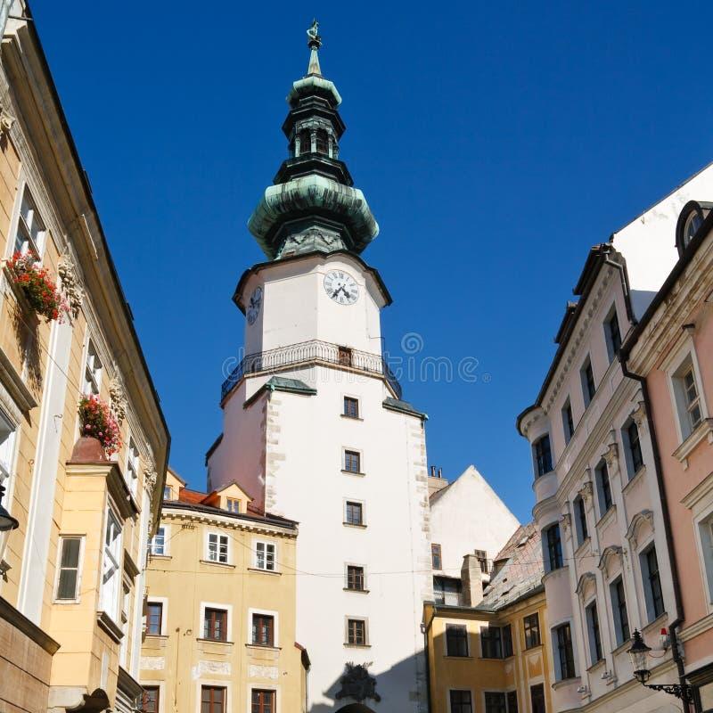 michal slovakia för bratislava stadsport torn arkivbild