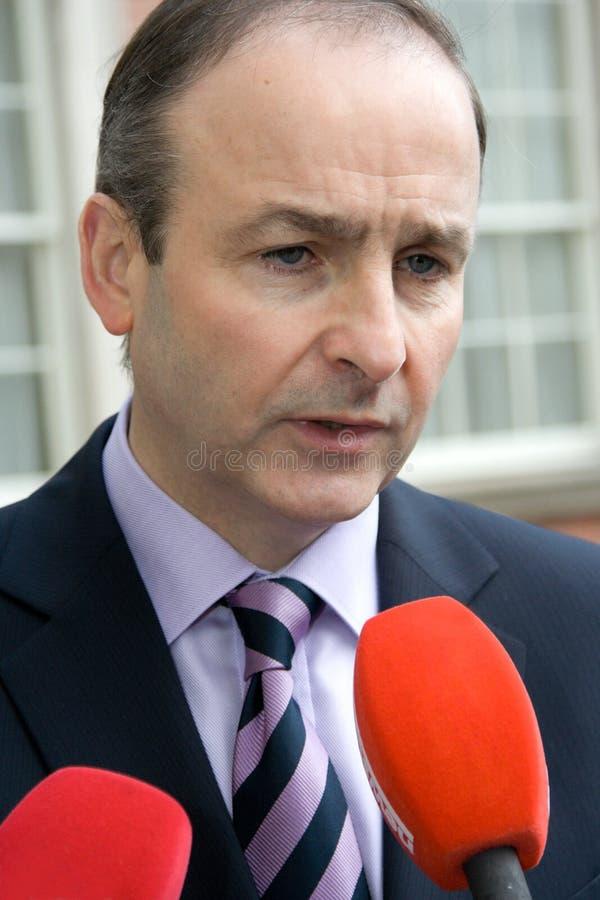 Micheal Martin un ministro para los asuntos exteriores imágenes de archivo libres de regalías
