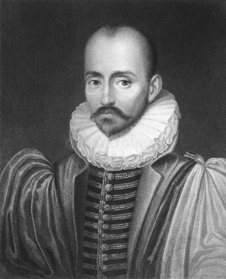 Michel de Montaigne stock afbeeldingen