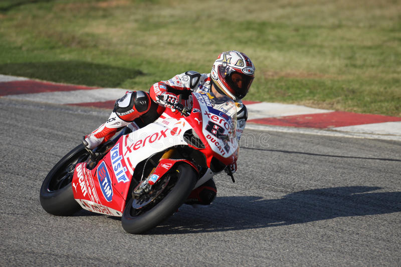 Michel Fabrizio Race 1 Winner SBK Kyalami royalty free stock photo