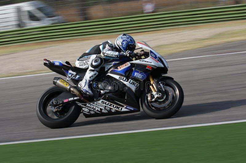 Michel Fabrizio Suzuki GSX-R1000 Alstare lizenzfreie stockfotos