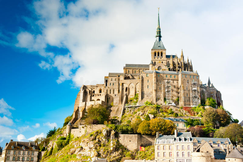 Michel france mont Normandii święty fotografia royalty free