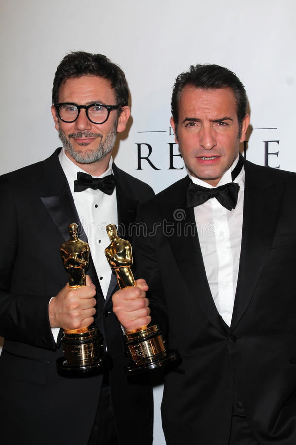 Michel Hazanavicius, Jean Dujardin Redactionele Fotografie