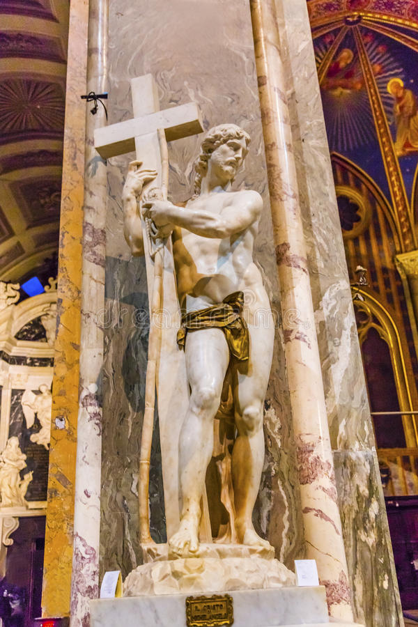 Michelangelo Christ Santa Maria Sopra Minerva Church Rome Italy arkivbild
