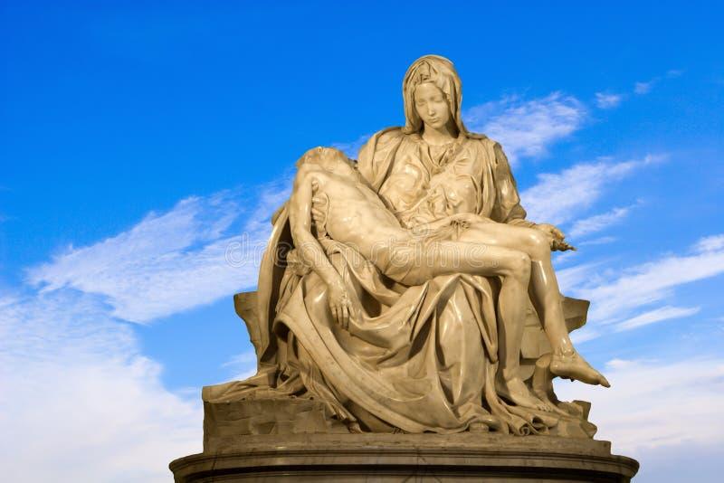 Michelangelo - Cristo - Pieta en el cielo foto de archivo