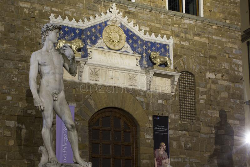 Michelangelo David skulpturkopia royaltyfri bild