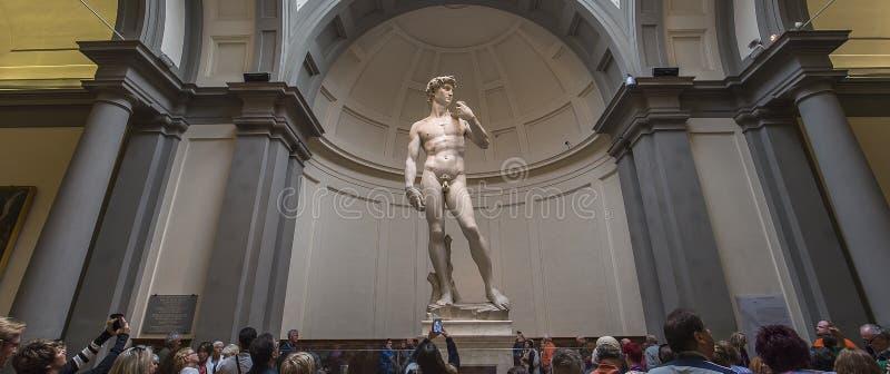 Michelangelo David statua w Accademia, Florencja, Włochy obrazy royalty free