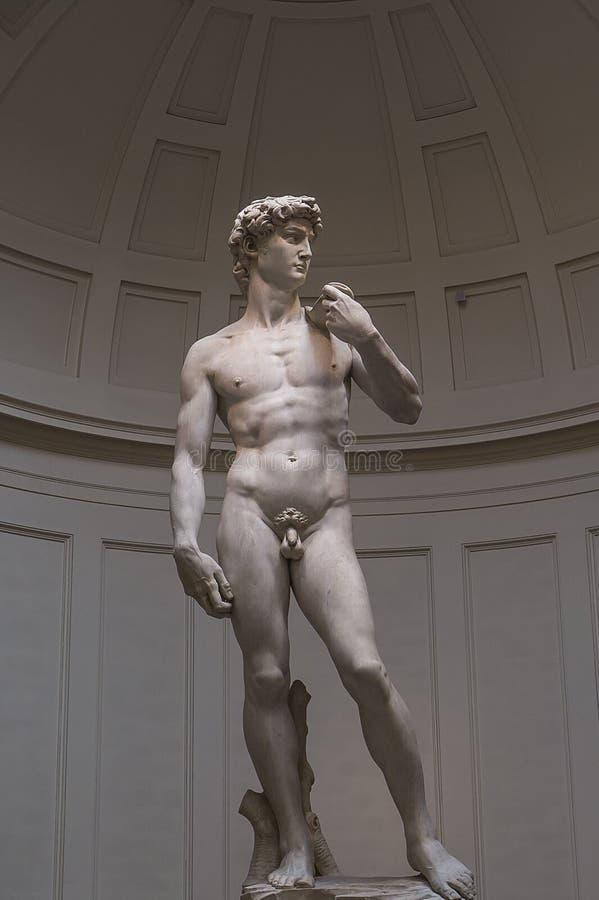 Michelangelo David statua w Accademia, Florencja, Włochy zdjęcie royalty free