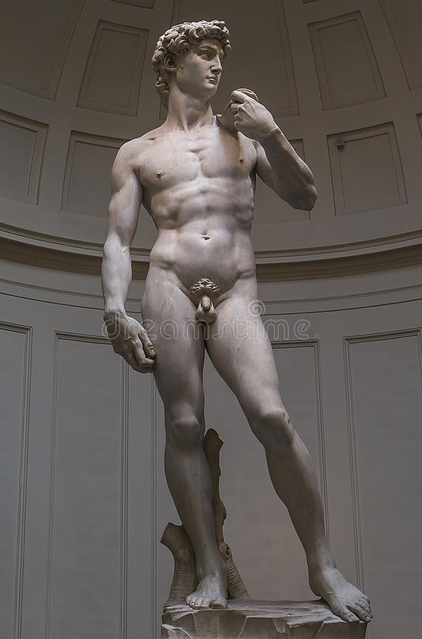 Michelangelo David statue in Accademia, Florence, Italy royalty free stock photos