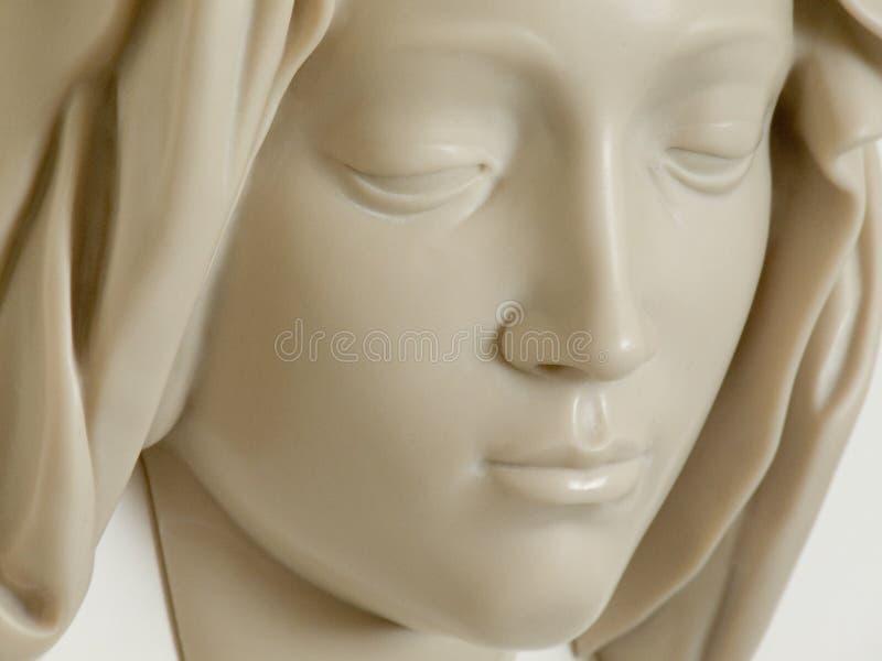 Michelangelo, Gezicht van Virgin, de Stad van Vatikaan stock fotografie