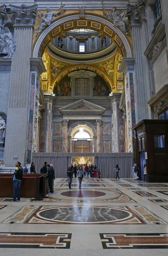 Michelangelo Masterpiece dans le saint Peter Basilica image libre de droits