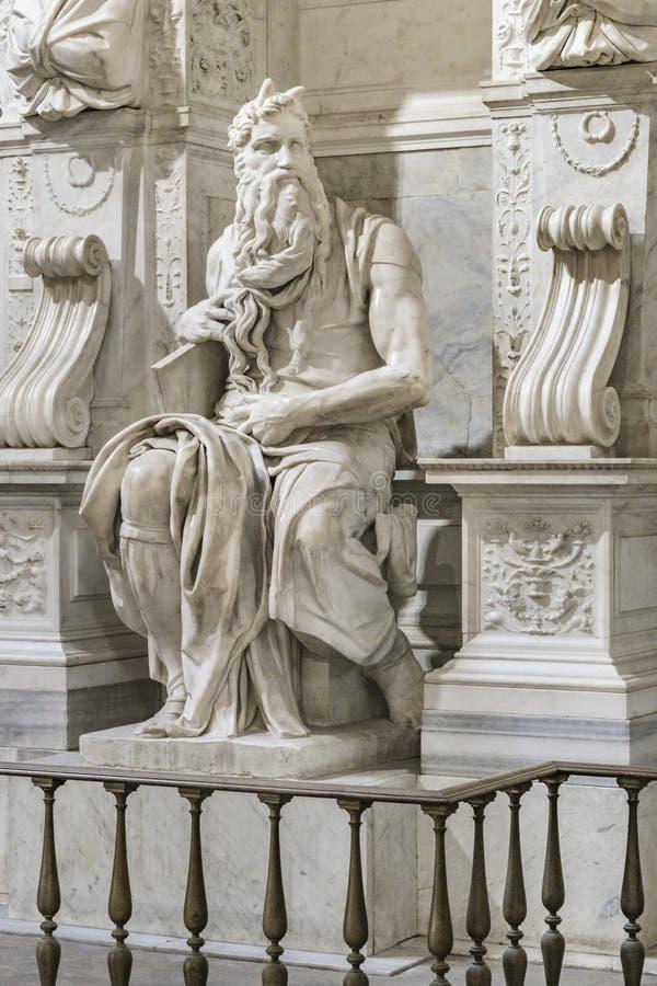 Michelangelo Moses Sculpture, Rome, Italie image libre de droits