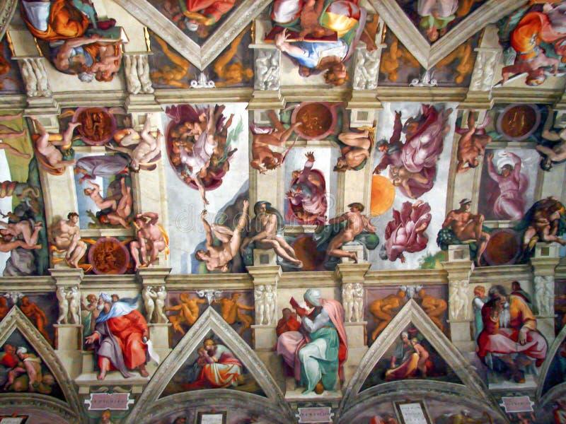 Michelangelo obrazy przy Sistine kaplicą zdjęcie royalty free