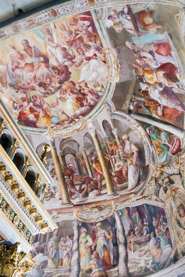 Michelangelo obrazy przy Sistine kaplicą (Cappella Sistina) - Watykan, Roma - Włochy fotografia stock